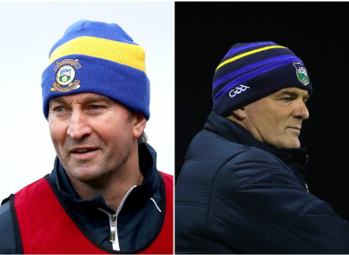 Tipperary hurling boss Michael Ryan and football manager Liam Kearns.
