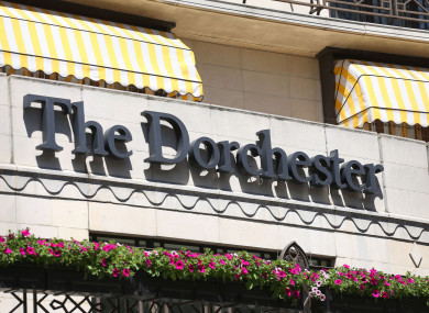 The men's only event was held at The Dorchester in London