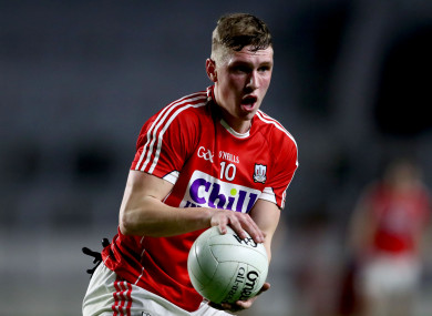 Sean White was on target for Cork on Sunday.