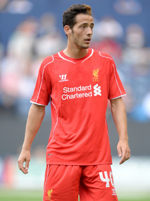 Adorjan featuring for the Reds during a pre-season friendly in 2014.