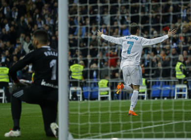 Ronaldo: Real have scored 18 goals in their last four league matches.
