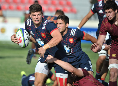 Jalibert playing with the France U20s last season.