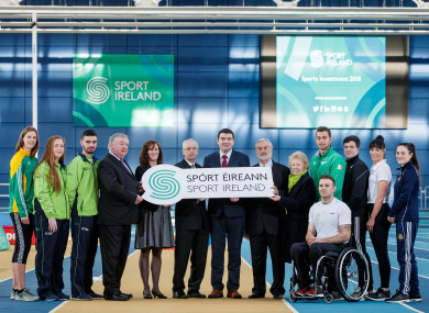 This morning's announcement took place at the National Indoor Arena in Abbotstown.