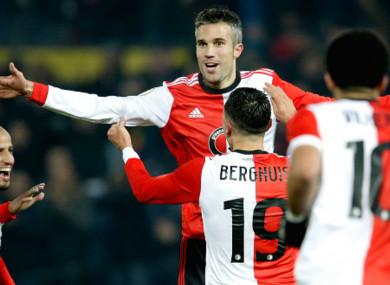 Feyenoord forward Robin van Persie.