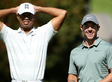 Tiger Woods and Rory McIlroy at the Genesis Open