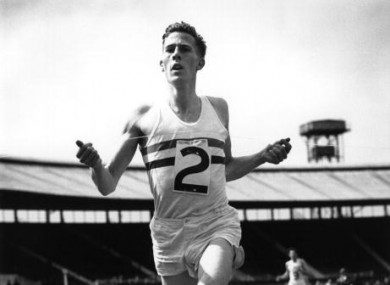 Bannister broke the record in 1954.