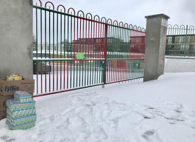 Saint Brigid's School in Glasnevin, Dublin last Wednesday morning.