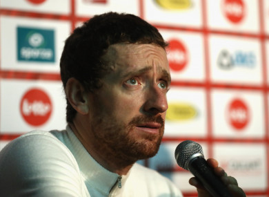 Bradley Wiggins (file photo).