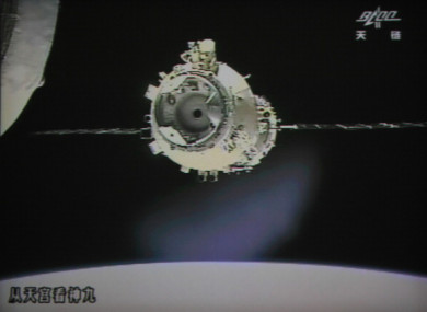 The Tiangong-1 space station set to plummet back to earth this weekend