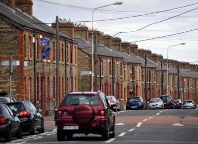 Terraced houses in Dublin city