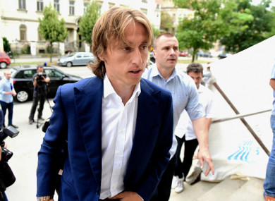 Croatia captain Modric pictured arriving at the Osijek courthouse back in June 2017.