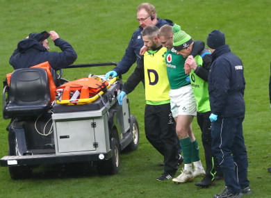 Earls: limped off in the second half of the Grand Slam decider.