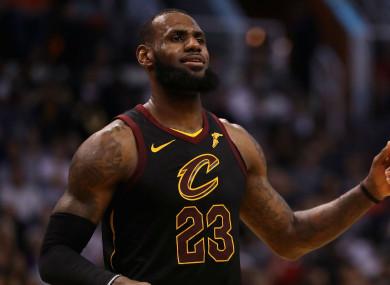 Cleveland Cavaliers star LeBron James
