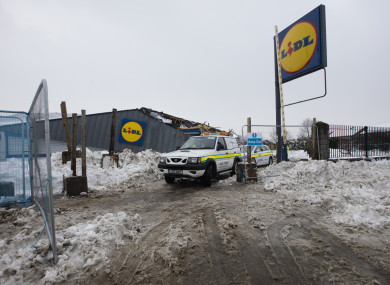 The damaged Lidl store at Fortunestown.