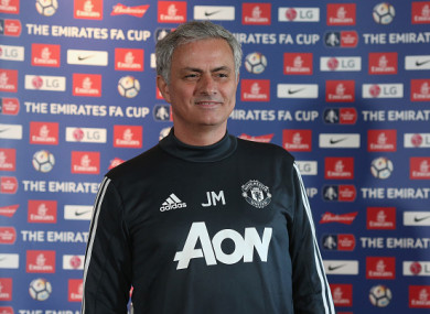 Mourinho was speaking ahead of his side's clash with Brighton later.