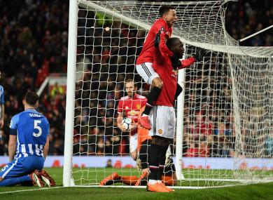 Lukaku's first-half header set United on their way.