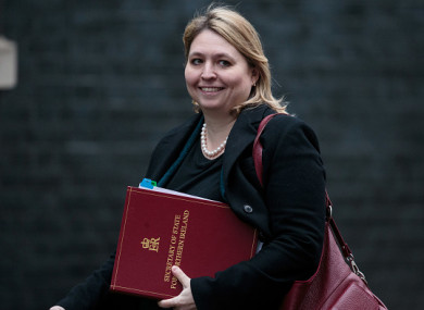 Northern Ireland's Secretary of State Karen Bradley