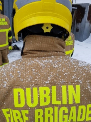 Dublin Fire Brigade members working during the recent bad weather