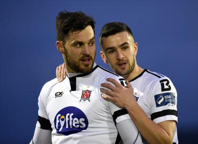 Patrick Hoban celebrates alongside Michael Duffy.