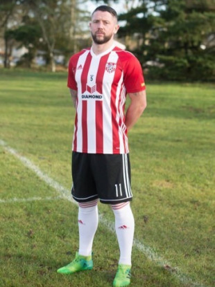 Patterson in Derry's latest home strip.