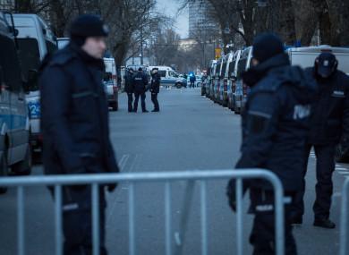 A stock photo of Polish police.