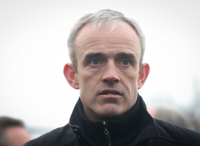 Ruby Walsh was back in action today.