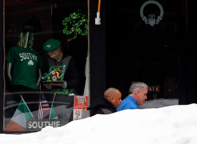 A snowy St. Patrick's Day in Boston in 2015.