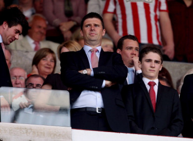 Quinn at the Stadium of Light during his time as club chairman in 2011.