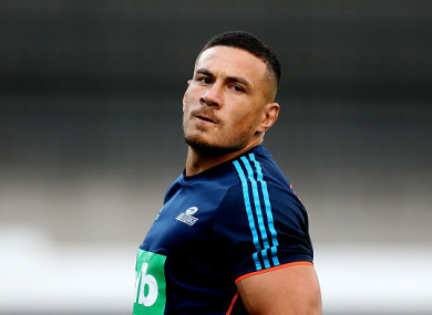 New Zealand rugby star Sonny Bill Williams.