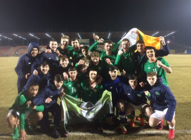 The Irish team pictured after their victory against Georgia on Saturday.