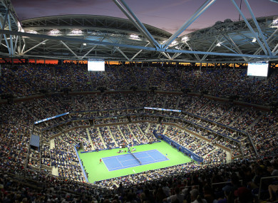 The Arthur Ashe Stadium at Flushing Meadows.