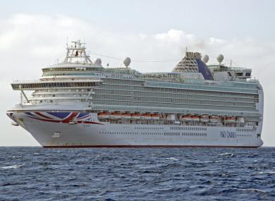File photo of a P&O cruise ship.