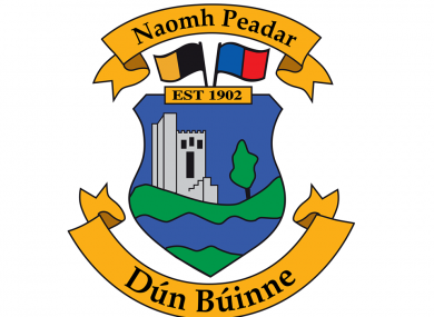 The St Peter's GAA club crest.