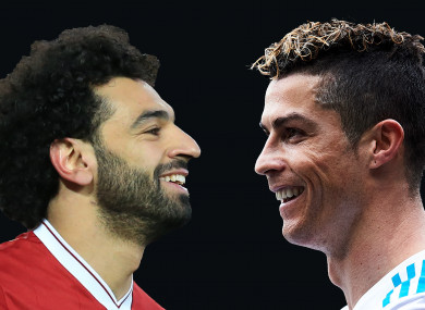 Mo Salah and Cristiano Ronaldo.