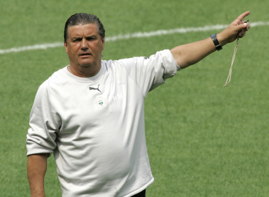 Michel during his time as Ivory Coast boss in 2006.