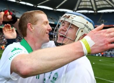 Shefflin and Reid celebrate Ballyhale's last All-Ireland win in 2015