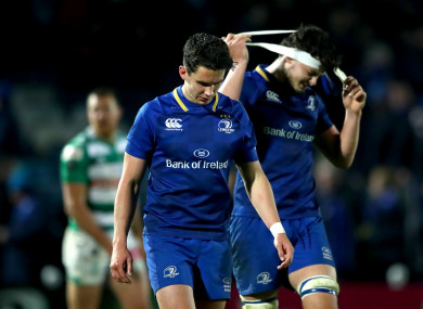 Joey Carbery didn't have the evening he would have liked at out-half.
