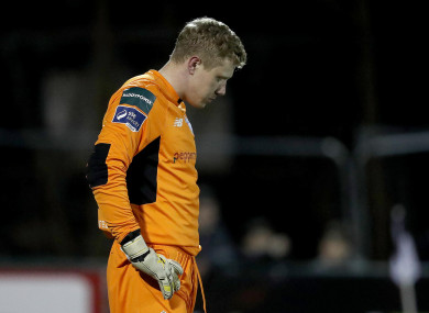 Kevin Horgan after conceding against Dundalk last Friday.