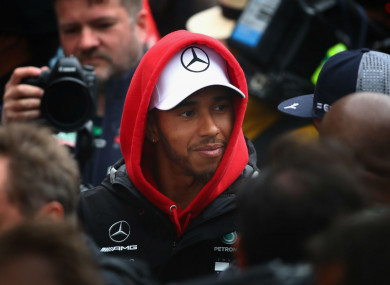 Lewis Hamilton at the Chinese Grand Prix