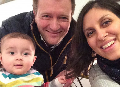 Jailed British mother Nazanin Zaghari-Ratcliffe with her husband Richard Ratcliffe and their daughter Gabriella.