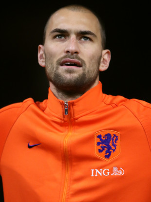 Bas Dost scored once in 18 appearances for the Netherlands.