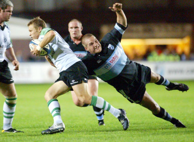 Jenkins in action against Connacht back in 2004.