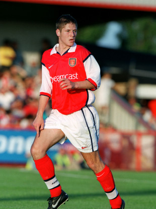 Graham Barrett pictured during his time at Arsenal.