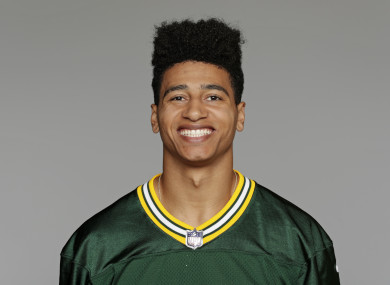 This 2017 file photo shows Trevor Davis of the Green Bay Packers.