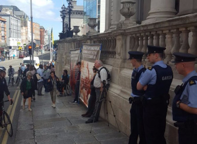 File photo. Taken of an ICBR demonstration last year on Dublin's Dame Street.