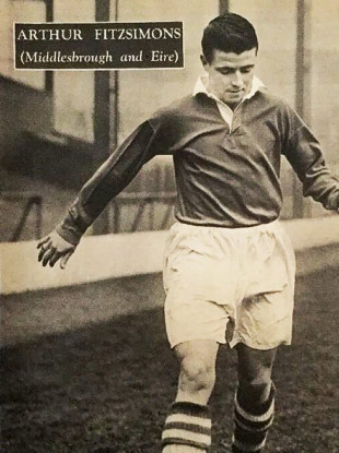 Fitzsimons played over 200 times for Middlesbrough after joining the club in 1949.