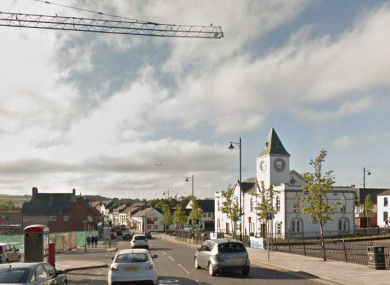 The incident occurred on the main street of Ballyclare