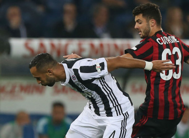 Medhi Benatia in action in the Coppa Italia final