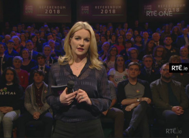 There Were  Complaints Made About The Claire Byrne Live Referendum Show