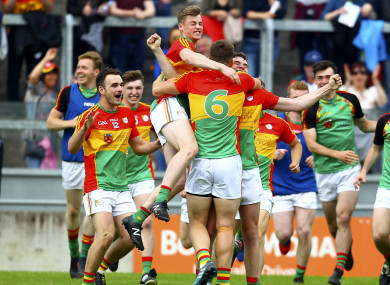Carlow defeated Louth on the way to Sunday's victory, their first over Kildare since 1963.